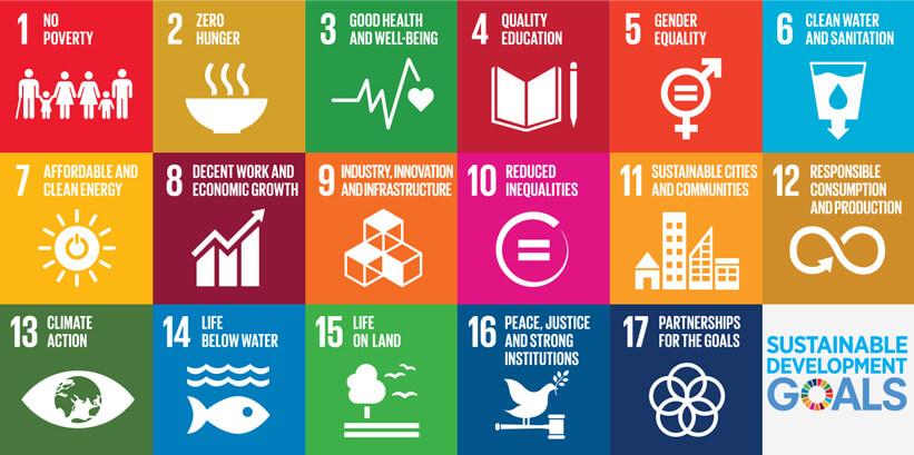 Op dit plaatje staan de 17 Duurzame Ontwikkelings Doelstellingen